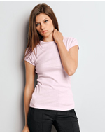 1001 Bella Ladies' Baby Rib Short-Sleeve T-Shirt