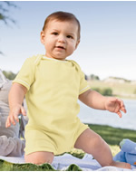 KA120 Apples & Oranges Infant Andy 1x1 Rib Shortall Romper
